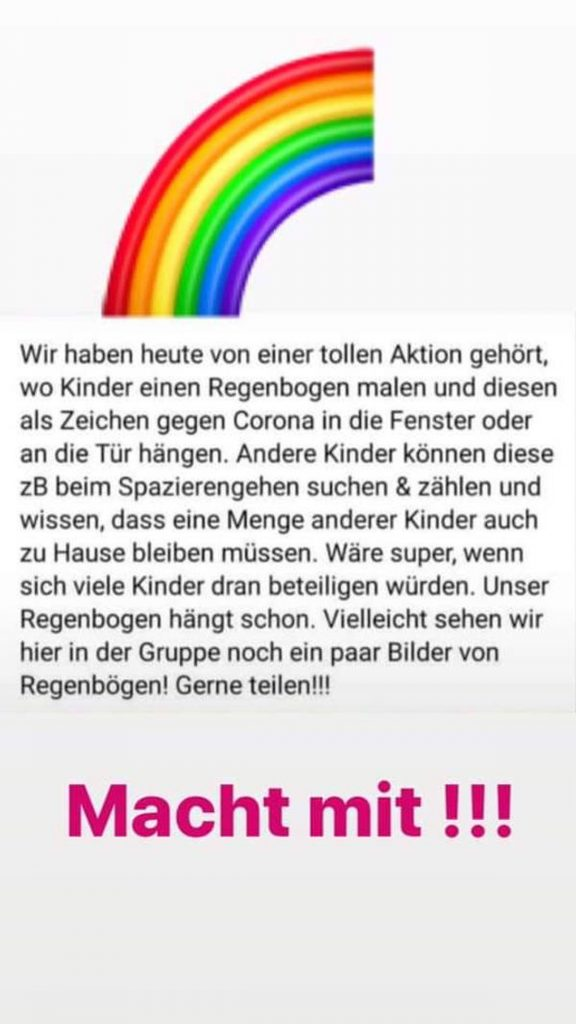 Regenbogen Aktion